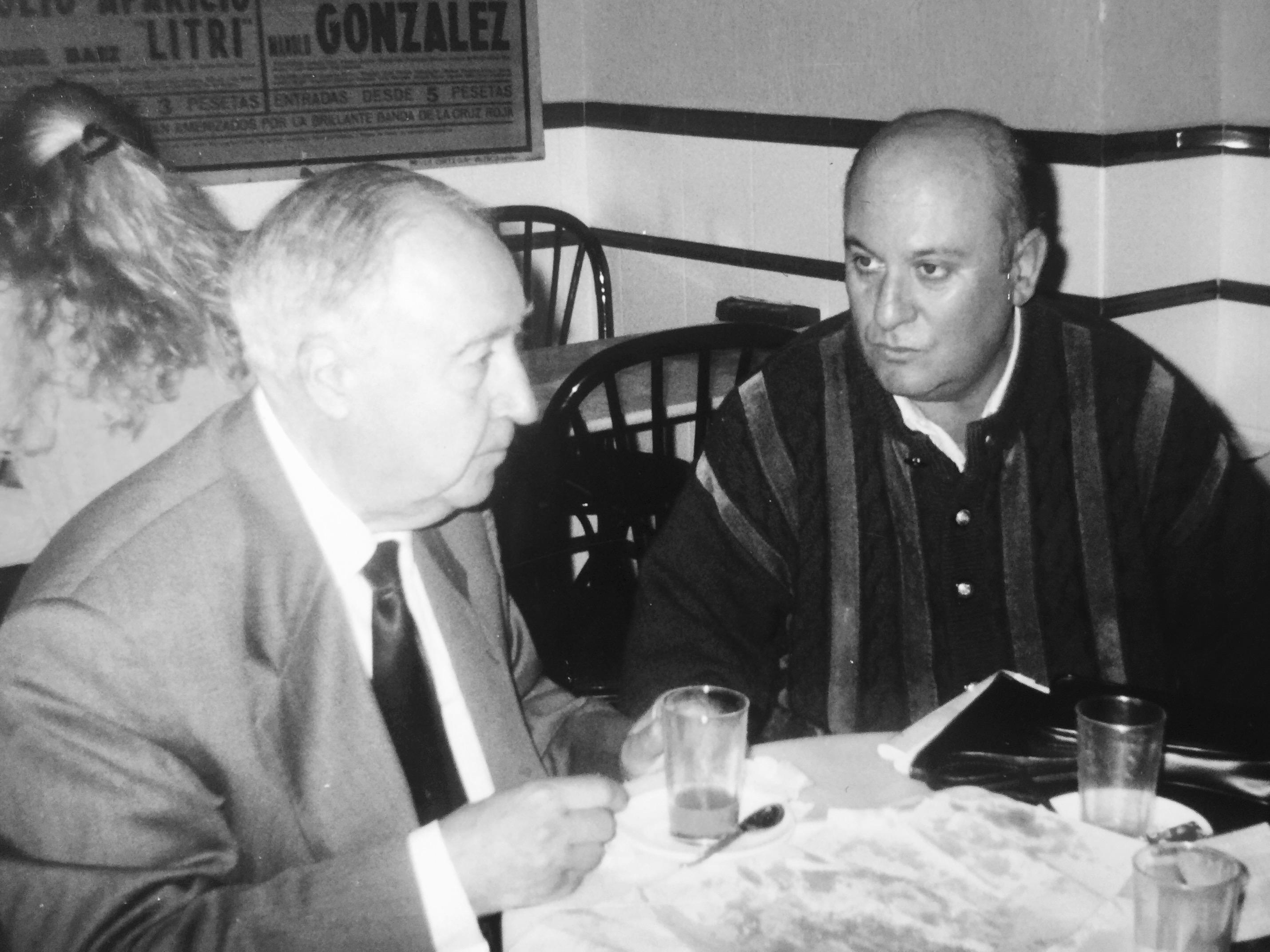 Juan Bautista Mojarro con Odón Betanzos